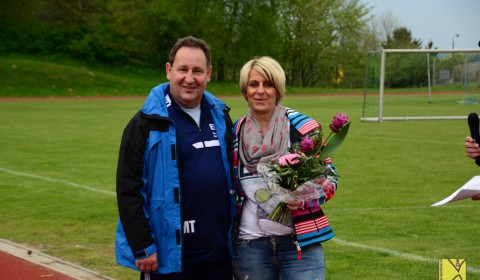Andrea Scharchmidt-Hinnah mit Trainer Mathias Tümmel