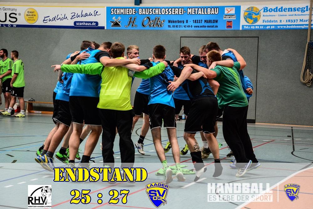 Ribnitzer HV - Laager SV 03 Handball Männer Endstand