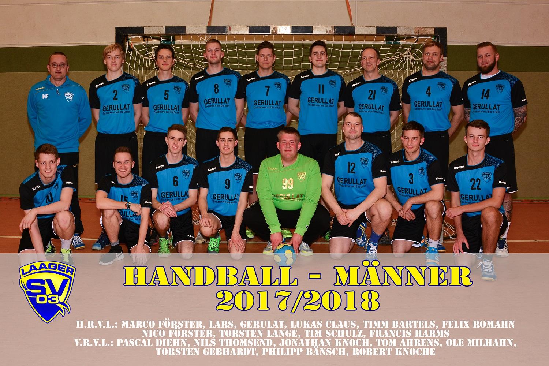 Laager SV 03 Handball Männer_Namen_2017/2018