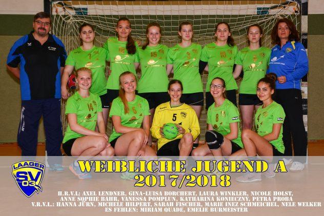 Laager SV 03 Handball wJA_Namen_2017/2018
