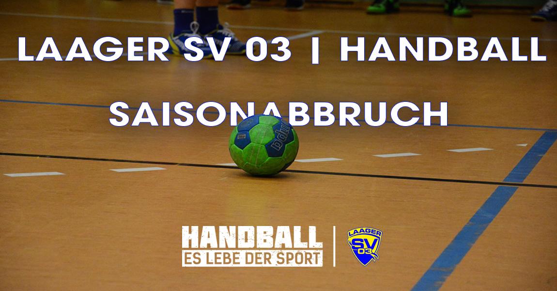 Handball – Saisonabbruch